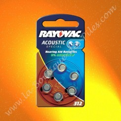 Pile Auditive Rayovac HA312 Acoustic spécial