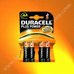 Pile Alcaline LR06 AA Duracell Plus Power