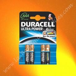 Pile Alcaline LR03 AAA Duracell Ultra Power