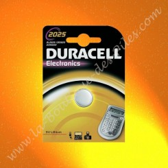 Pile Lithium CR2025 Duracell Electronics