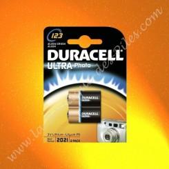 Pile Lithium CR123A Duracell Ultra Photo