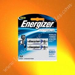 Pile Energizer Ultimate Lithium L91 AA, Blister de 2 piles