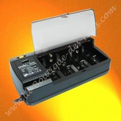 Chargeur universel Camelion CM9398 pour piles et accumulateurs AA/AAA/C/D/ ou 9V