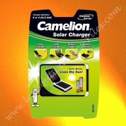 Chargeur Solaire Camelion SBC3001 pour piles et accumulateurs AA/AAA/C/D/ ou 9V