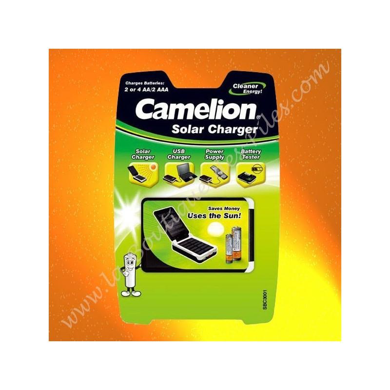 chargeur solaire camelion sbc3001 pour piles et. Black Bedroom Furniture Sets. Home Design Ideas