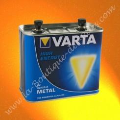 Pile 4R25 Varta métal pour pile porto