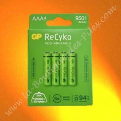 Pile LR06 AA GP Batterie, GP Recyko+ 950 mAh