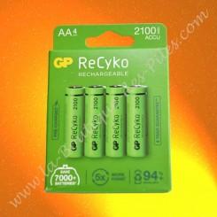 Pile LR06 AA GP Batterie, GP Recyko+ 2100 mAh