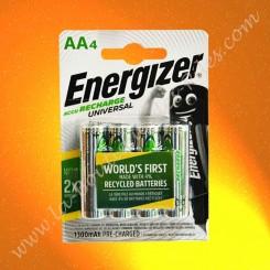 Piles rechargeable LR06 AA Energizer 1,2 volts 1300 mAh
