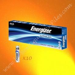 Piles Energizer Ultimate Lithium L92-FR3 AAA, Boite de 10 Piles