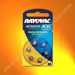Pile Auditive Rayovac HA10 Acoustic spécial