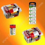 Piles Camelion alcalines LR6 AA, LR3 AAA, 6LR61 9 volts, piles AG13